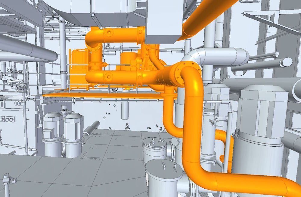 3D Scanning new piping step 4